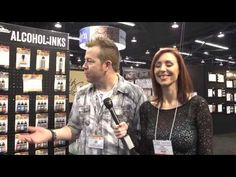 CHA2014 - Tim Holtz Shows His New Ranger Products and how to use them!