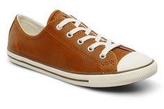 All Star Dainty Leather Ox W Converse (Marron) : livraison gratuite de vos Baskets All Star Dainty Leather Ox W Converse chez Sarenza