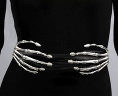 """Skeleton hand belt (Wouldn't this make a great """"choker"""")"""