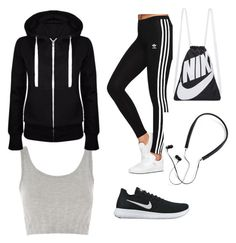 """Sports outfit."" by streetsclothing on Polyvore featuring adidas Originals, NIKE, Polaroid and Topshop"