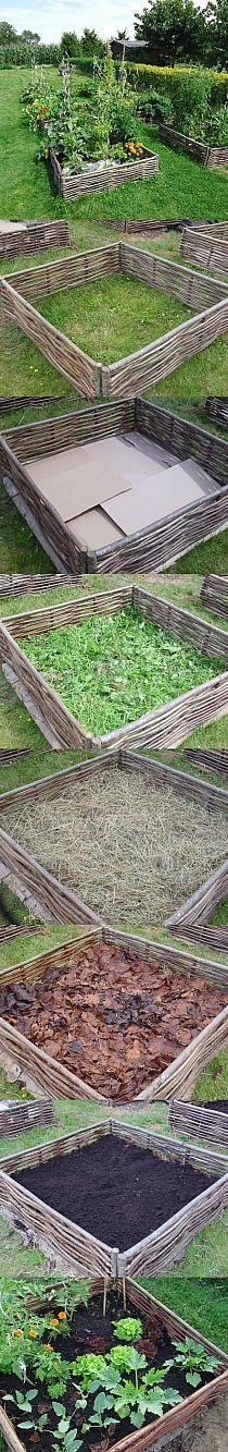 raised flagstone vegetable garden beds prepper