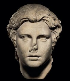 A ROMAN MARBLE PORTRAIT OF ALEXANDER THE GREAT CIRCA 1ST CENTURY A.D. 12 in. (30.4 cm.) high