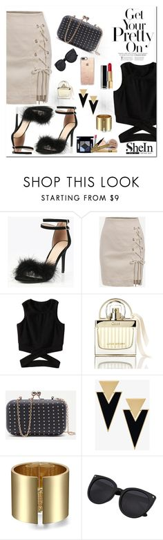 """Shein 4/1"" by dinna-mehic ❤ liked on Polyvore featuring Chloé, Yves Saint Laurent, Casetify and shein"