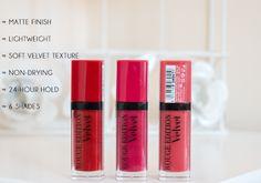 Bourjois Rouge Edition Velvet Lipstick (Review & Lip Swatches) - http://www.interiordesign724.com/fashion-and-beauty/bourjois-rouge-edition-velvet-lipstick-review-lip-swatches.html