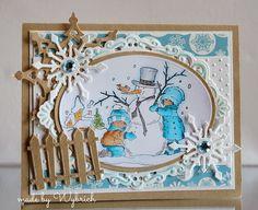 Cards made by Wybrich: Marianne Design challenge 95