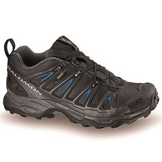 Salomon Mens X Ultra Gore Tex Waterproof Breathable Trail Running Shoes  Trainers Black/Blue 8.5