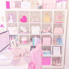 How To Make Your Workspace Girly Making my workspace so cute and girly is always at the top of my list! In fact I never stop updating it because it's just one of those things that I do that makes me happy and I'm going to dish my secrets to you right here as... #becomegirly #classicfashionstylist