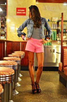 Denim in the diner! @American Eagle Outfitters