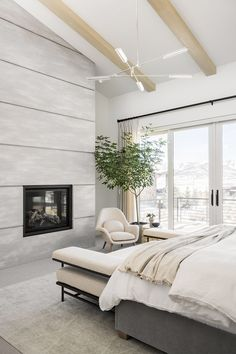 PC Contemporary Project: The Primary Suite Small Master Bedroom, Home Bedroom, Bedroom Decor, Bedrooms, Living Room Decor, Living Spaces, Living Rooms, Studio Mcgee, Guest Suite