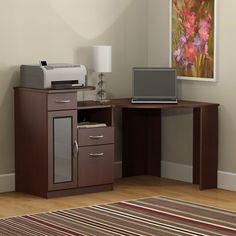 Bush Vantage Cherry Corner Computer Desk - HM66615A-03