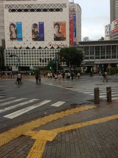 The early morning across from Shibuya station on a Tuesday.