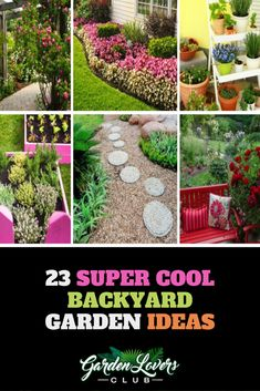 Here is a gallery of 27 Backyard Garden Ideas (with photos) that will inspire you this year. From small to large garden spaces you'll be sure to find your next project. Garden Images, Garden Pictures, Garden Photos, Backyard Pool Landscaping, Landscaping Images, Backyard Ideas, Garden Ideas, Tulips Garden, Planting Flowers