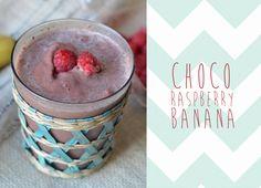 Choco Raspberry Banana Protein Smoothie YUM