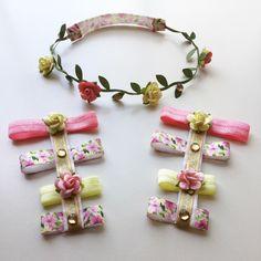 Spring floral halo and baby gladiators set by RoyalPrincessBowtiqu