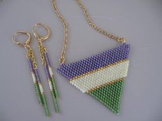Seed Bead Beadwoven Necklace  FREE Shipping by pattimacs on Etsy, $28.00