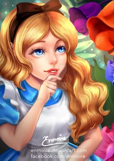 Alice (Drawing by Enmoire @deviantART) #AliceInWonderland