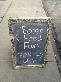 English pubs have long been noted for their chalk board signs. One of my favorites - http://www.almaalexander.org/sex-life-law/