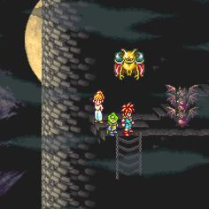 Climbing up the wall in Magus's Castle - Chrono Trigger (SNES)