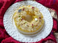 Malai Ghevar is a round shaped #Rajasthani sweet made during the festive season #dessert
