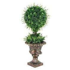 "36"" Mini Tea Leaf 1-Ball Topiary"