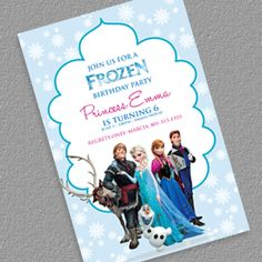 Free FROZEN Birthday Invitation Template
