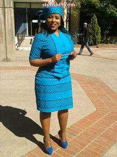 izishweshwe designs ideas for 2018 - style you 7 African Wedding Attire, African Attire, African Wear, African Women, African Style, African Print Dresses, African Print Fashion, African Fashion Dresses, African Dress