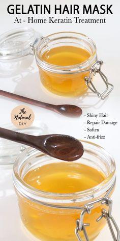 Gelatin Hair Mask: At-Home Keratin Treatment - The Natural DIY
