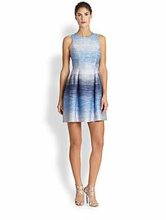Shoshanna Ombre Tweed Helena Dress