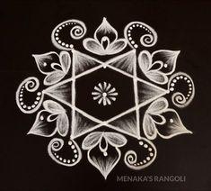 Rangoli Side Designs, Simple Rangoli Border Designs, Rangoli Designs Latest, Free Hand Rangoli Design, Rangoli Patterns, Small Rangoli Design, Rangoli Designs Diwali, Rangoli Designs With Dots, Beautiful Rangoli Designs