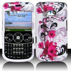 LG 900G for Stright Talk  Net 10  Tracfone Accessory - Red Lily Design Hard Case Proctor Cover
