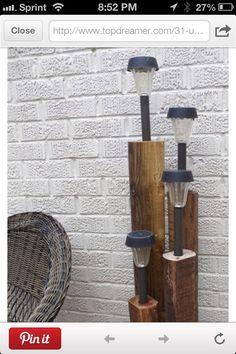 DIY Garden lamps