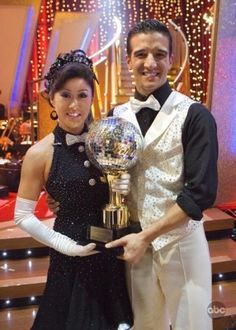 Season 6 winners: Kristi Yamaguchi & Mark Ballas  (...still not watching; people at work trying to convince me to watch...)