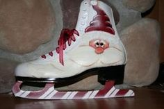 Thistle Dew Crafts - love the peppermint blades on this ice skate by stefanie