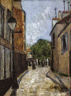 Maurice Utrillo (1883 - 1955) Norvins Street and Tertre Square at Montmartre