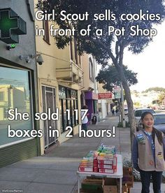 World's smartest girl scout. LOL.