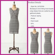 "Anthropologie Dresses & Skirts - Anthro ""Twisted Linear's Dress"" by Bordeaux NWT"