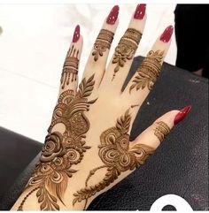 This is beautiful henna mehndi designs for all ladies of this era Khafif Mehndi Design, Henna Art Designs, Mehndi Designs For Girls, Stylish Mehndi Designs, Mehndi Designs For Beginners, Dulhan Mehndi Designs, Mehndi Design Photos, Wedding Mehndi Designs, Mehndi Designs For Fingers