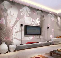 Living room modern wall paint design interior exterior spectacular cool decorating ideas decoration home decorati Living Room Wall Designs, Living Room Decor On A Budget, Living Room Tv, Living Room Modern, Small Living, Dining Room, Modern Wall Paint, Modern Wall Decor, Tv Wall Decor