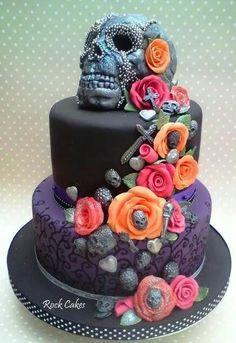 Skull cake by Rock Cakes