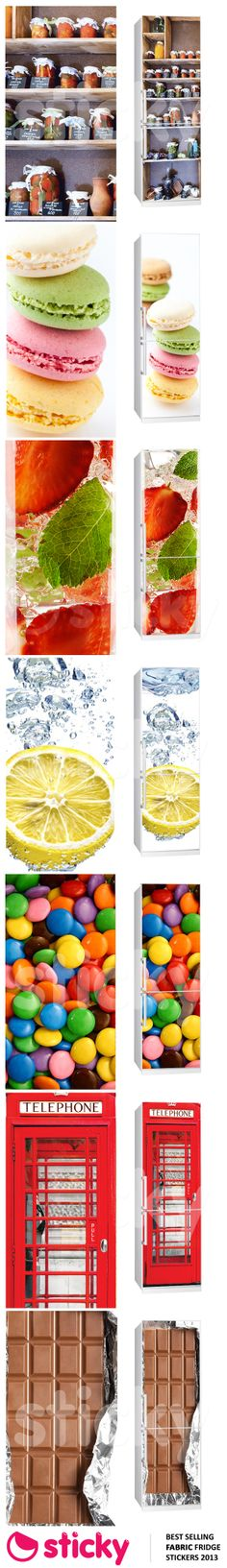 STICKY - Our most popular FABRIC FRIDGE stickers for 2013 based on sales!