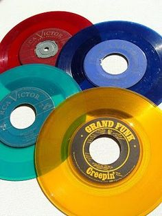 Colored records. Loved these.