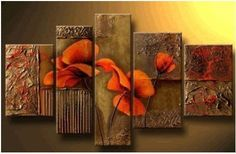 100% Hand Painted Modern Abstract Oil Painting on Canvas Wall Art Deco Home Decoration 5 Pic/set Stretched Ready to Hang by Global Gallery, http://www.amazon.com/dp/B009HMZTKI/ref=cm_sw_r_pi_dp_JU1Zqb1A8M4T1