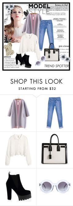 """""""Where else"""" by candiessss ❤ liked on Polyvore featuring H&M, Yves Saint Laurent and Wildfox"""