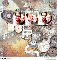 'World's Greatest Dad' layout by Donna Espiritu Design Team member for Kaisercraft Official Blog featuring New August 2017 Factory 42 collection. Learn more at kaisercraft.com.au/blog - Wendy Schultz - KKaisercraft.com.au/ - Wendy Schultz - Kaisercraft Layouts.