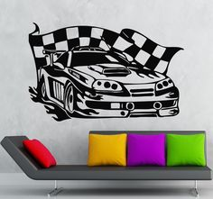 Wall Stickers Vinyl Decal Sports Car Race Rally Coolest Garage Decor #wallstickers4you