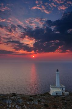 The Capo d'Otranto lighthouse was built in 1867, situated at Italy's most eastern point, marking the point where the Ionian and Adriatic Seas meet. It was abandoned in the 1970′s.