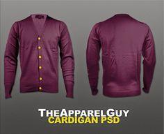 cardigan template, cardigan mockup, free cardigan template @tshirtzoon