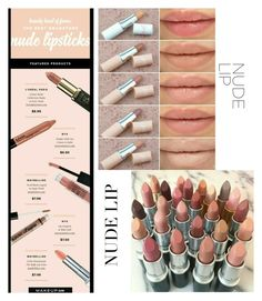 """""""Nude lip"""" by im-karla-with-a-k ❤ liked on Polyvore featuring beauty"""