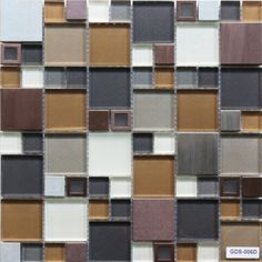 Mineral Tiles - Stainless Glass Tile Modern Copper Blend, $23.00 (http://www.mineraltiles.com/stainless-glass-tile-modern-copper-blend/)