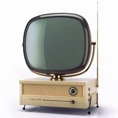 Those classic Philco Predicta TVs seem to be making a big comeback in games and movies, but as they are notoriously difficult to find maker Jesse Demers has just shared designs for a small printed version. Tvs, Radios, Vintage Television, Television Set, Vintage Tv, Radio Antigua, Vintage Appliances, Tv Sets, Retro Futuristic
